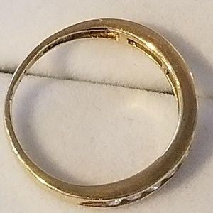 Jewelry - 14k Yellow Gold Diamond Wedding Band Ring